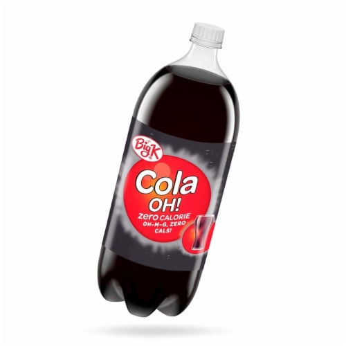Big K® Cola Oh! Zero Calorie Soda Perspective: front