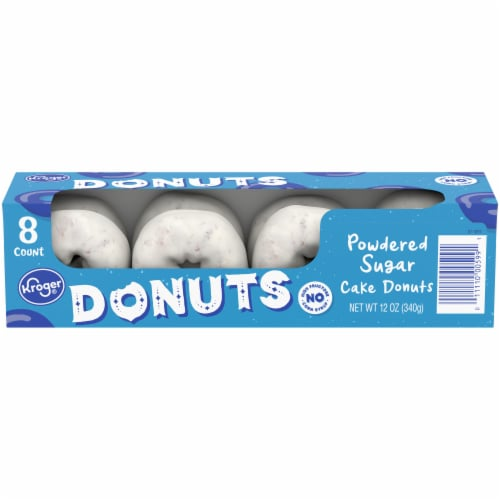 Kroger® Powdered Sugar Cake Donuts Perspective: front