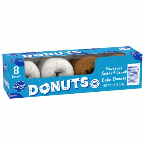 Kroger® Powdered Sugar & Crumb Cake Donuts Perspective: front