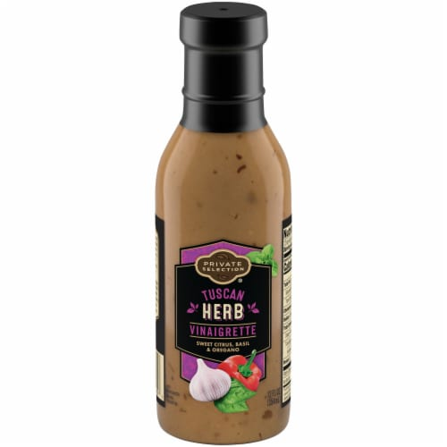 Private Selection® Tuscan Herb Vinaigrette Salad Dressing Perspective: front