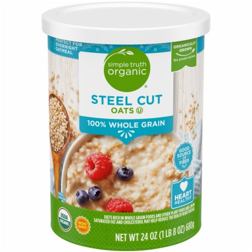 Simple Truth Organic® 100% Whole Grain Steel Cut Oats Perspective: front