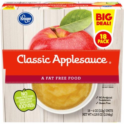 Kroger® Classic Applesauce Cups Perspective: front