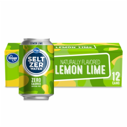 Kroger® Lemon Lime Seltzer Water Perspective: front