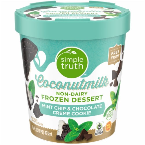 Simple Truth™ Coconut Milk Mint Chip & Chocolate Creme Cookie Non-Dairy Frozen Dessert Perspective: front