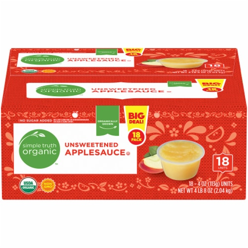 Simple Truth Organic™ Unsweetened Applesauce Perspective: front