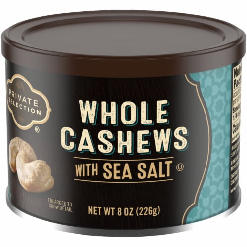 Private Selection® Large Whole Cashews with Sea Salt Perspective: front