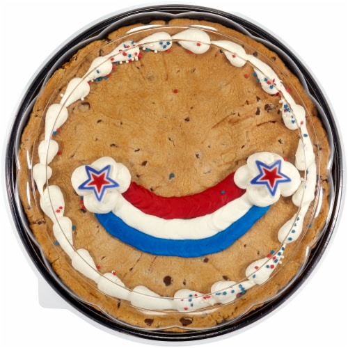 Bakery Fresh Goodness Patriotic Rainbow Colossal Chocolate Chip Cookie Perspective: front
