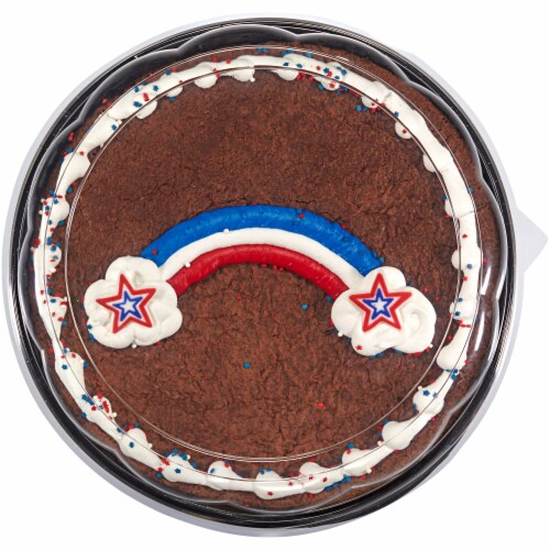 Bakery Fresh Goodness Patriotic Rainbow Colossal Brownie Perspective: front
