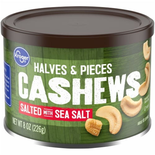 Kroger® Salted with Sea Salt Cashew Halves & Pieces Perspective: front