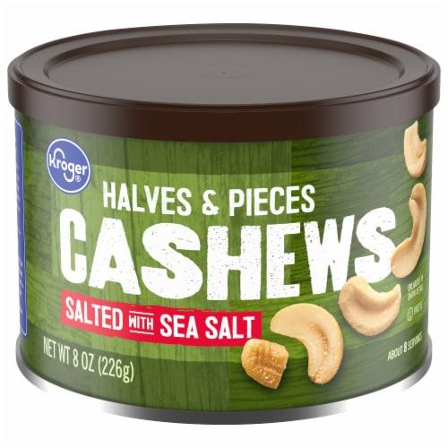 Kroger® Salted Cashew Halves & Pieces Perspective: front