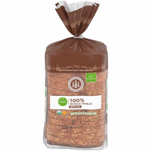 Simple Truth Organic™ 100% Whole Wheat Bread Perspective: front