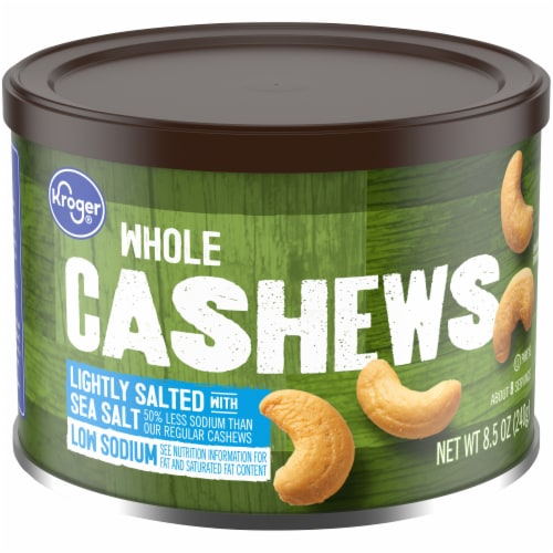 Kroger® Whole Lightly Salted Cashews Perspective: front