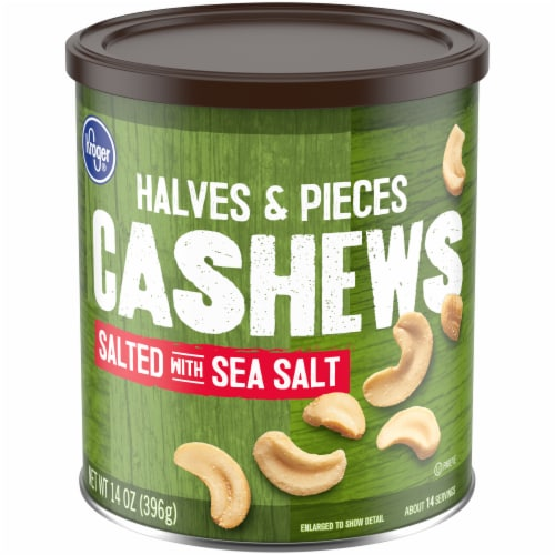 Kroger® Salted Cashews Halves & Pieces Perspective: front