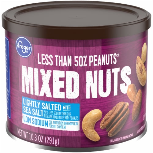 Kroger® Lightly Salted with Sea Salt Mixed Nuts Perspective: front