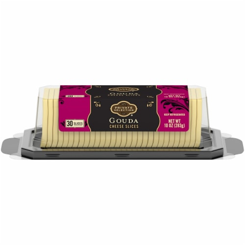 Private Selection® Gouda Cheese Slices Perspective: front