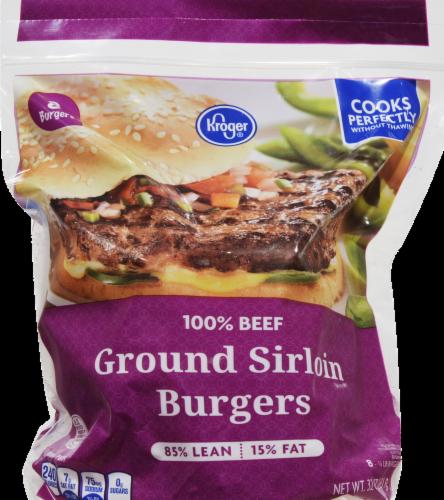 Kroger® 85% Lean Frozen Ground Sirloin Burger Perspective: front