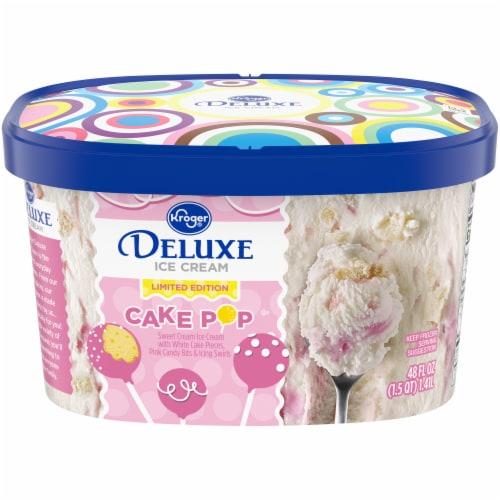Kroger Deluxe Cake Pop Ice Cream Perspective: front