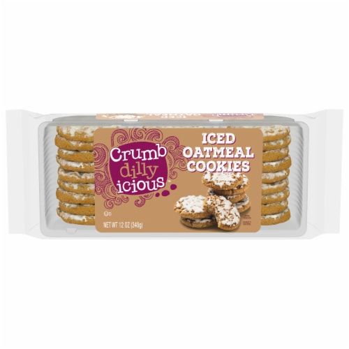 Crumbdillyicious™ Iced Oatmeal Cookies Perspective: front