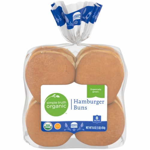 Simple Truth Organic™ Hamburger Buns 8 Count Perspective: front