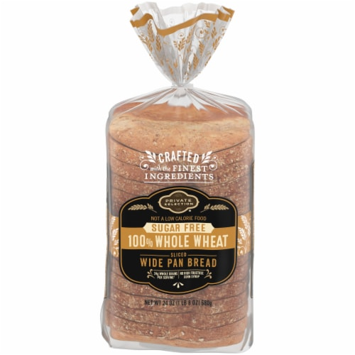 Private Selection® Sugar Free Whole Wheat Sliced Wide Pan Bread Perspective: front