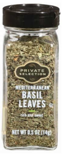 Private Selection™ Mediterranean Basil Leaves Perspective: front
