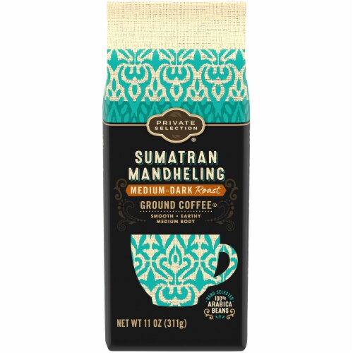 Private Selection® Sumatran Mandheling Medium-Dark Roast Ground Coffee Perspective: front