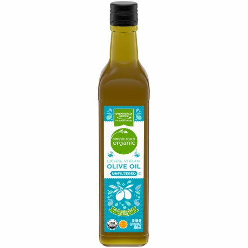 Simple Truth Organic® Unfiltered Extra Virgin Olive Oil Perspective: front
