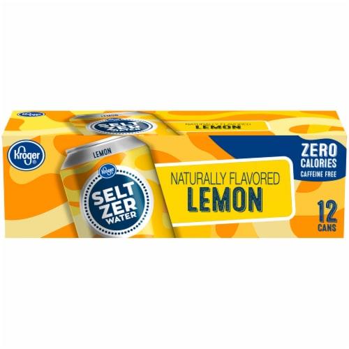 Kroger® Lemon Seltzer Water Perspective: front