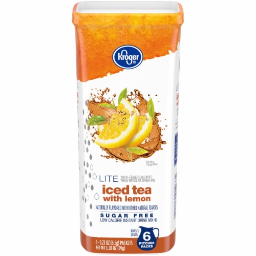 Kroger® Lite Iced Tea with Lemon Instant Drink Mix Perspective: front