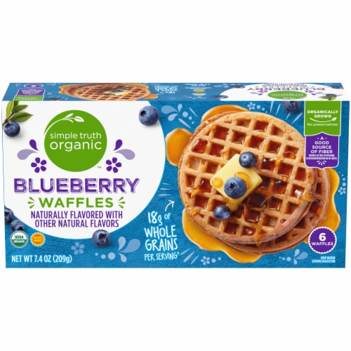 Simple Truth Organic™ Blueberry Waffles Perspective: front