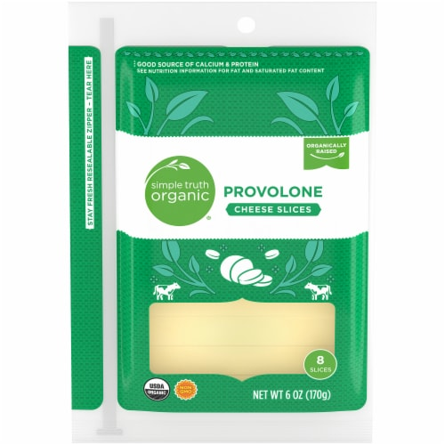 Simple Truth Organic™ Provolone Cheese Slices Pack Perspective: front