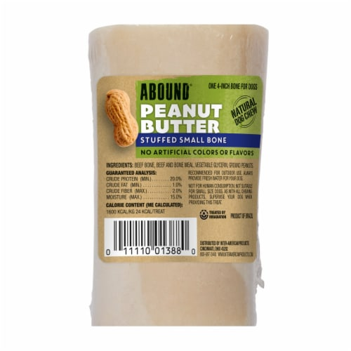 Abound Stuffed Peanut Butter Small Stuffed Bone Perspective: front