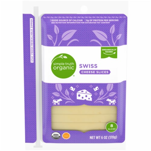 Simple Truth Organic™ Swiss Cheese Slices 8 Count Perspective: front