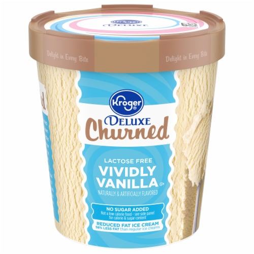 Kroger® Deluxe Churned Vividly Vanilla Ice Cream Perspective: front