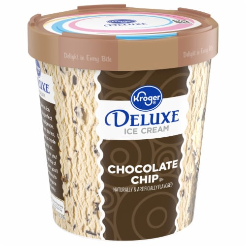 Kroger® Deluxe Chocolate Chip Ice Cream Perspective: front