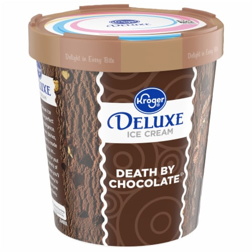 Kroger® Deluxe Death By Chocolate Ice Cream Perspective: front
