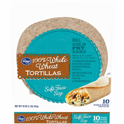 Kroger® 100% Whole Wheat Tortillas Perspective: front