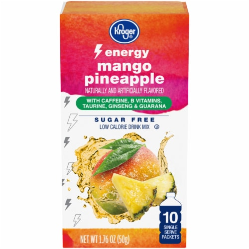 Kroger® Mango Pineapple Sugar Free Energy Drink Mix Perspective: front