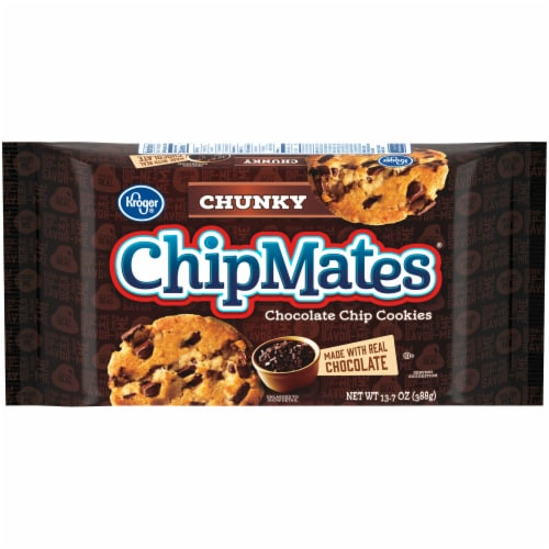 Kroger® ChipMates Chunky Chocolate Chip Cookies Perspective: front