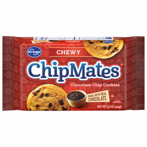 Kroger® ChipMates Chewy Chocolate Chip Cookies Perspective: front