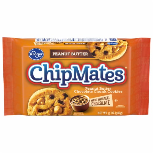 Kroger® ChipMates® Peanut Butter Chocolate Chunk Cookies Perspective: front