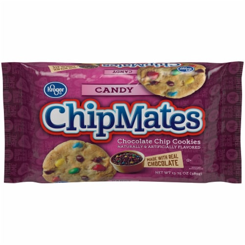 Kroger® ChipMates Candy Chocolate Chip Cookies Perspective: front