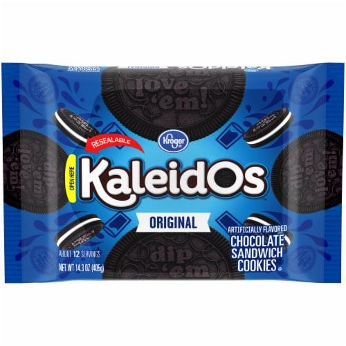 Kroger® Kaleidos Original Chocolate Sandwich Cookies Perspective: front
