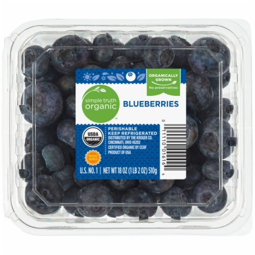 Simple Truth Organic™ Blueberries Perspective: front