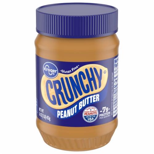 Kroger Crunchy Peanut Butter Perspective: front