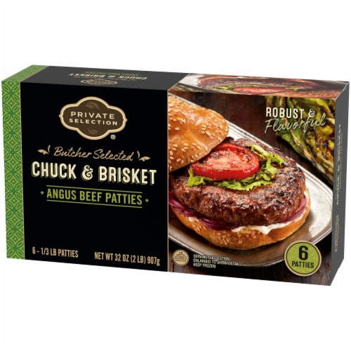 Private Selection™ Chuck & Brisket Angus Beef Patties 6 Count Perspective: front