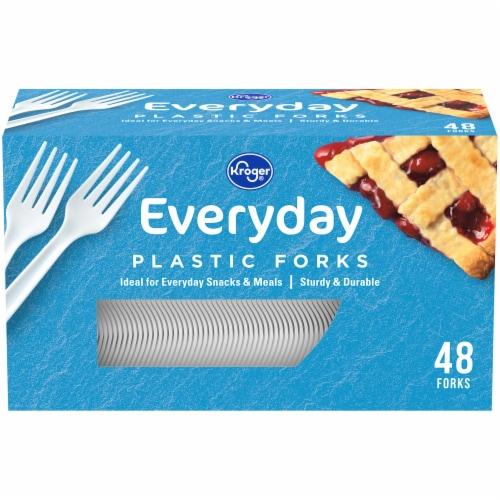 Kroger® Everday Plastic Forks Perspective: front