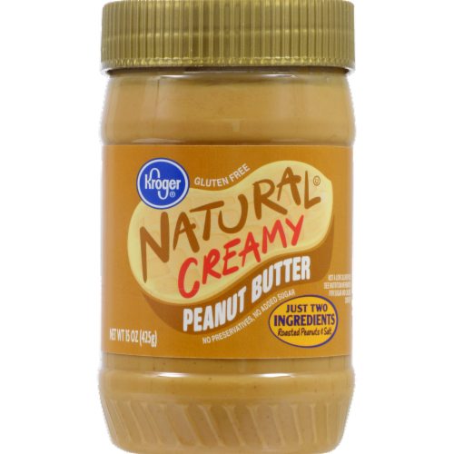 Kroger Natural Creamy Peanut Butter Perspective: front