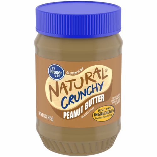 Kroger® Natural Gluten Free Crunchy Peanut Butter Perspective: front