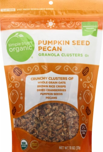 Simple Truth Organic™ Pumpkin Seed Pecan Granola Clusters Perspective: front